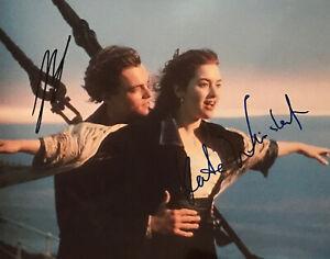 Leonardo DiCaprio & Kate Winslet TITANIC Autographed In Person 8x10 w/ COA