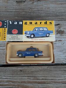 Vintage NIB Vanguards Triumph Herald Monte Carlo Press Car Die-Cast Toy1:43 Box