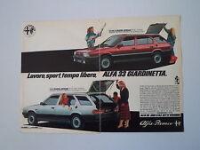 advertising Pubblicità 1984 ALFA ROMEO 33 GIARDINETTA 1.5