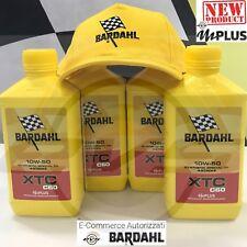4 Litri BARDAHL XTC C60 10W50 Olio Motore Sintetico Moto 4T + Cappellino Omaggio