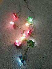 10 luci natale colori fiori fiorellini vintage natalizie Christmas albero