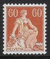 Switzerland 1918 60c Helvetia w/ Sword Sc #140 MNH VF, CV $27.50 - cw77.18