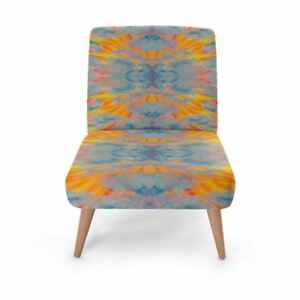 Solstice Designer Occasional Chair, Handmade to order Sustainable Wood Eco Print