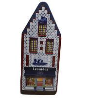 Leonidas Belgian Chocolates House Shaped Empty Tin Box Amplitude 3.5x3.75x9.25