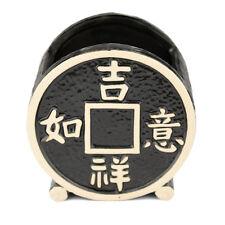 Coin Vertical Ceramic Black Planter