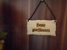Heute geschlossen Türschild Vintage Schild Holz Holzschild mit Lederband Shabby