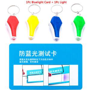 1x Flashlights Anti Blue Light + 1x Card LED Plastic Torch Light  Glasses TestZB