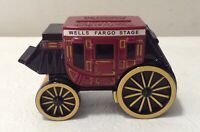 2011 WELLS FARGO BANK STAGE COACH COIN CAST IRON BANK ~ Key in Bank