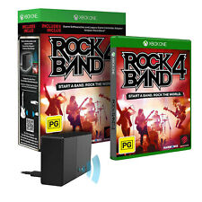 Rockband Rock Band 4 with Legacy Game Controller Adapter Xbox One Game NEW