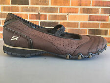 Skechers  45900 Brown Mary Jane Bikers Womens Size 8        U56(5)