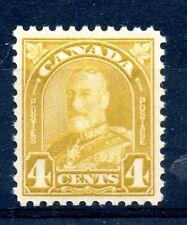 Weeda Canada 168 VF MNH 4c yellow bistre KGV Arch/Leaf issue $50