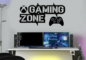 Gaming Zone Wall Stickers Decals  PS XB PS4  SX Gamer Controller Gamer Wall Art