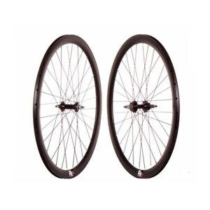FK Schwarz Black Laufradsatz Laufräder Wheelset Fixed Gear Single Speed Singlesp