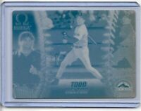 1/1 TODD HELTON 1998 PACIFIC OMEGA PRINTING PRESS PLATE COLORADO ROCKIES 1 OF 1