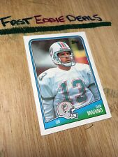 TOPPS FOOTBALL 1988 DAN MARINO CARD 190 MIAMI DOLPHINS EXCELLENT