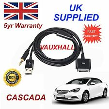 VAUXHALL CASCADA For Apple iPhone 3GS 4 4s iPhone iPod Audio Cable & charger blk