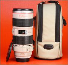 Canon EF 70-200mm F2.8 L IS USM Telephoto Zoom Lens - Front/ Rear Lens Caps Case