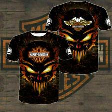 Limited Edition Harley-Davidson Men's All Over Full 3D Black T Shirt S-5XL