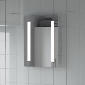 Modern Mirror LED Illuminated Rectangular Battery Power IP44 Rated 390 x 500mm