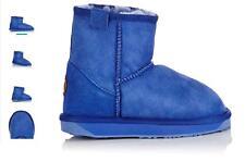 EMU Australia Stinger Mini Donna Pelle Di Pecora Pantofole Cobalto/Boots UK 5 RRP £ 120