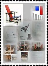 Bauanleitung Nachbau Rietveld Chair Stuhl Red Blue Rot Blau Bauhaus Art D Stijl