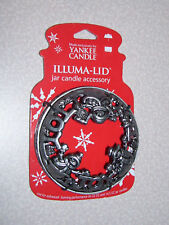 "New Yankee Candle ILLUMA Lid ""JOY"" / Christmas Holiday Snowman"