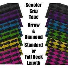 SCOOTER GRIP TAPE - ARROW & DIAMOND - STANDARD LENGTH or FULL DECK LENGTH