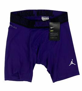 "NEW Jordan Alpha 6"" Compression Spandex Shorts Purple Black Mens Sz M 865862-545"