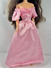 Barbie Pink Floral Off Shoulder Doll Gown Dress Fits Tnt & Standard Fashionistas