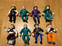 Dick Tracy Retro Vintage colectable Action Figures Set of 8 by Playmates