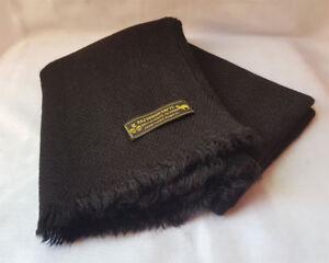 Black Pashmina 100% Cashmere Muffler