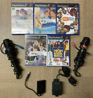 PS2 Singstar Bundle 4 Games 2 Microphones EyeToy Camera & Game USB  PS3 PS4 Sony