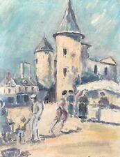Paysage de marché Normand milieu XXe