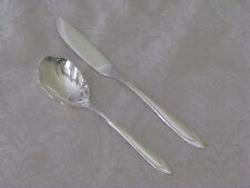 FIRST LADY 1960 Meriden silverplate master BUTTER KNIFE + SUGAR SPOON