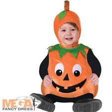 Pumpkin Cutie Pie Kids Fancy Dress Halloween Boys Girls Toddlers Costume Outfit