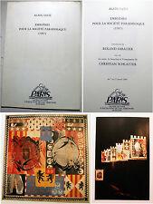 LETTRISME/A.SATIE/EMBLEMES POUR LA SOCIETE PARADISIAQUE/GALERIE DE PARIS/1988