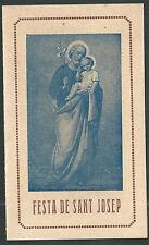 Estampa antigua de San Jose andachtsbild santino holy card santini