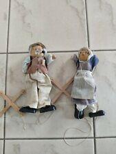 schönes Marionetten Pärchen Figuren Oma und Opa ca. 40 Jahre alt, Bremer Motiv