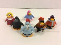 "Lot of 6 Disney Club Penguins 2"" Figures Knight Ninja Rock Star -Jakks"