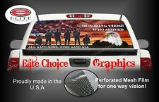 Military Honor Our Veterans Rear Window Graphic Decal Sticker Truck Car SUV
