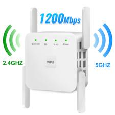 Repetidor WiFi 1200 Mbps Extensor WiFi Amplificador WiFi 5GHz Señal Inalámbrica