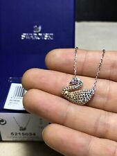 Swarovski ICONIC SWAN Graduate Color swan pendant Necklace jewelry
