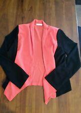 Lush orange & black light open jacket szM Preowned free post D37