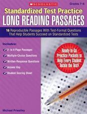 Standardized Test Practice Long Reading Passages: Standardized Test Practice...