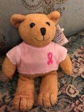 "New Avon Breast Cancer Crusade Bear Plush Pink Ribbon Shirt 6 1/2"" Nwt #N8"