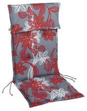"""Stehsaumauflage Sesselauflage """"Lale"""" für Hochlehner 8cm mit Kopfpolster, 120x50x"""