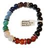 Elite Shungite Bracelet Bead Rainbow Bracelet Stretchy Radiation Karelia 8mm