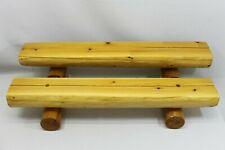 N-232 Two 3ft Rustic Log Home Mantel Machine Peel Pine Fireplace Shelf