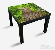 Wallario Glasplatte für Ikea Lack Tisch, 55x55 cm, Motiv: Steintreppe Wald stein