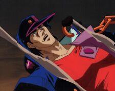 Jojo's Bizarre Adventure Anime Cel Douga Animation Art Jotaro Battle Dio 1993